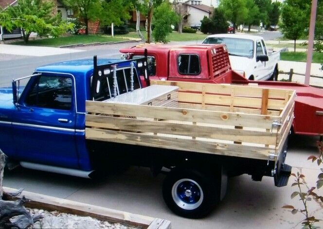 Wooden truck bed