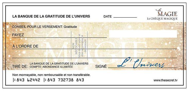 Le chèque d'abondance est un petit exercice pratique lié à la loi d'attraction. Il a pour but de créer plus d'abondance dans nos vies.
