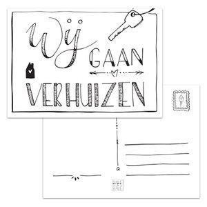 Ga je verhuizen, dan wil je je familie en vrienden een kaart sturen met het nieuwe adres met dit verhuisbericht. Je kunt deze verhuiskaart zonder envelop versturen. Handlettering. http://www.havetohave.nl/Verhuisbericht