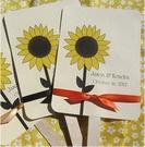 Personalized Wedding Fans - Sunflower: