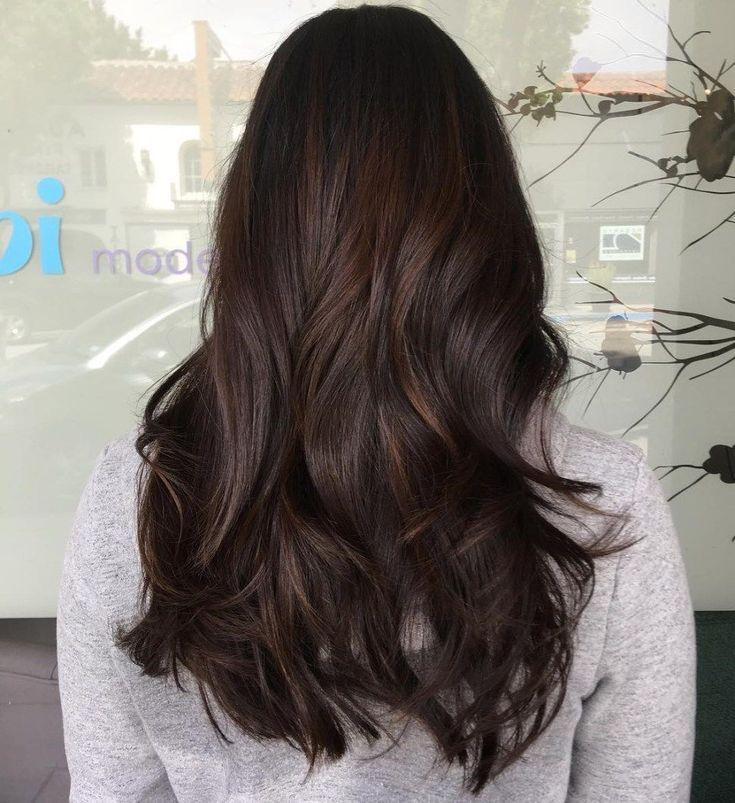 60 Chocolate Brown Hair Color Ideas for Brunettes #38: Light Chocolate Balayage Hair Want to refresh the color of your long brown hair? Try a soft cho...