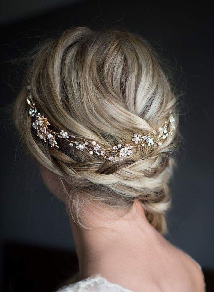 Haaraccessoire Handmade Headband Goud Swarovski Bloemen