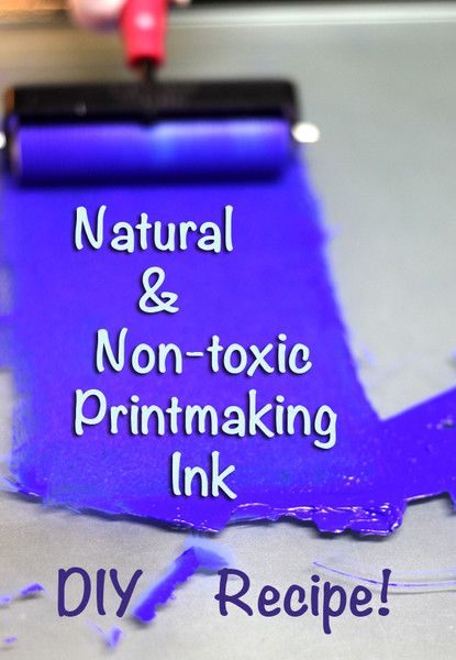 Natural Earth Paint - How to make Natural & Non-toxic Printmaking Ink (to investigate later...)