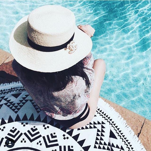 Our Marfa Throw pool side | Looking Oh So Chic!!   @ashleykassab | #summer16 #poolside #thatsummerfeeling