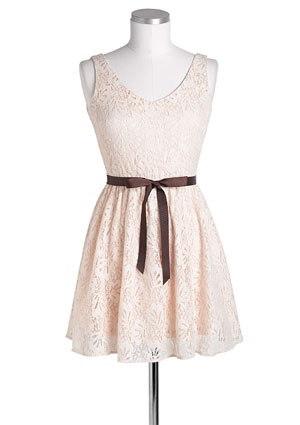 Lace Belted Dress from Delias....i love it! dress it up or dress it down, either way it looks amazing!!!