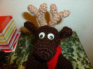 lavoretti creativi dall'uncinetto alla pittura: schema gratis amigurumi - la renna natalizia