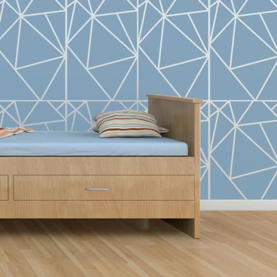 Geometric Allover Pattern Wall Stencil Reusable Stencils Wall Geometric Wall Stencil Wall Patterns