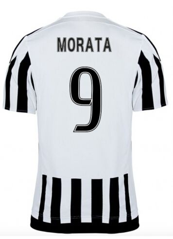 Juventus Jerseys 2015/16 Home Soccer Shirt #9 MORATA