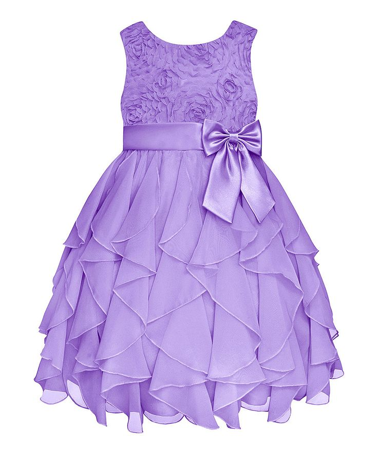 Look at this #zulilyfind! Lilac Rosette Ruffle Dress - Infant, Toddler & Girls by American Princess #zulilyfinds