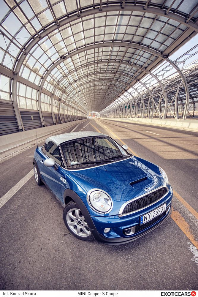 Mini Cooper S Coupe. Yes, we've also drove this car: http://exoticcars.pl/testy/mini-cooper-s-coupe/