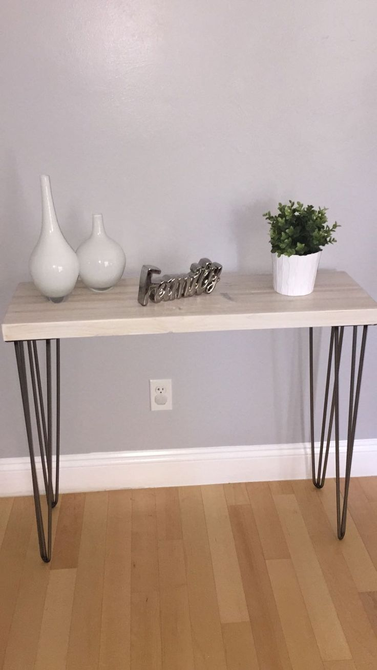 How to make a sofa table from 1 x 6 lumber - Sale White Modern Rustic Console Table Entry Table Sofa