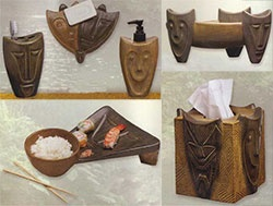 Tiki Bathroom Set