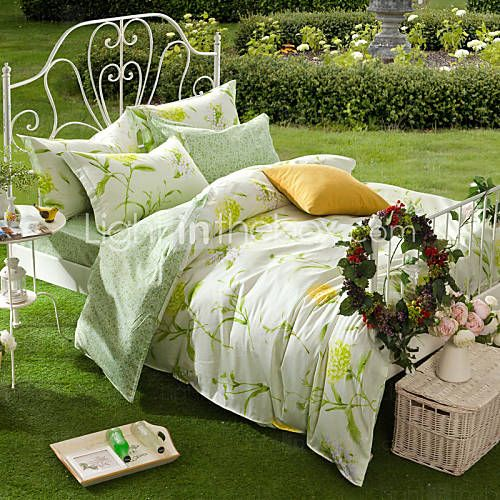 100% serie de ropa de cama de algodón estampado Set de 4 funda de edredón, tamaño queen 4934436 2017 – €48.99