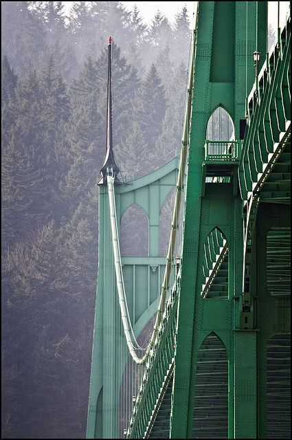 Portland's Saint John's Bridge (Portland, Oregon, not Maine :-) photograph by Don Pyle