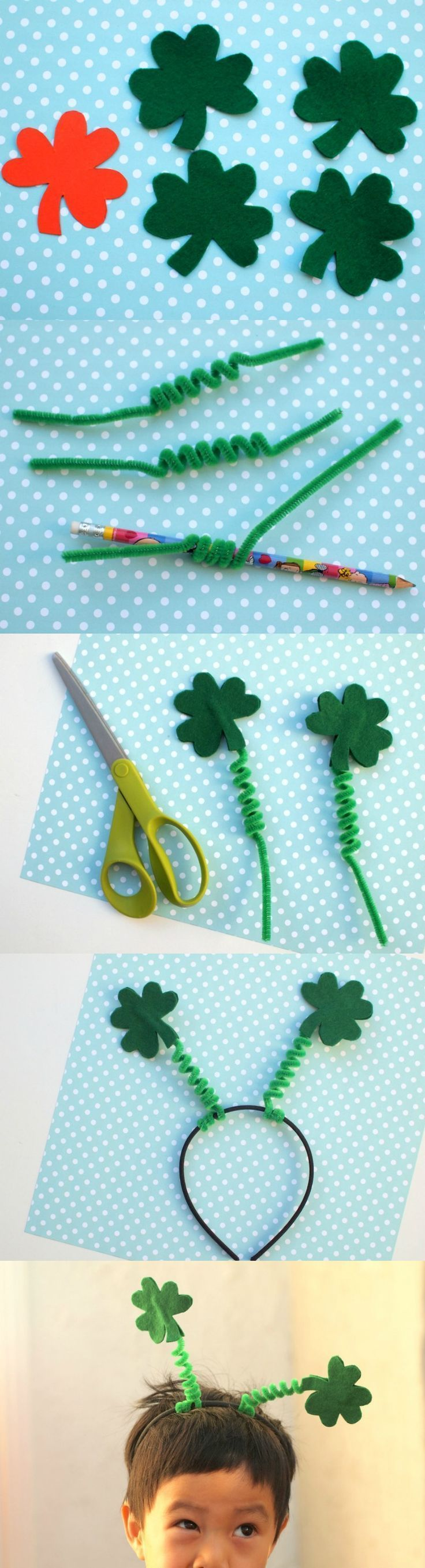 St. Patrick's Day is right around the corner; celebrate with this unique shamrock craft! Kids will love making and wearing this fun and festive headband.