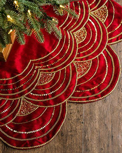 "60"" Elizabeth Beaded Tree Skirt - Cranberry Red by Balsam... https://smile.amazon.com/dp/B01LWWW5JL/ref=cm_sw_r_pi_dp_x_V0YgybP23SGFG"