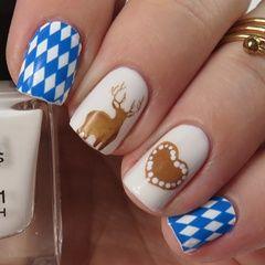 Wiesn 2015: Oktoberfest Nails (Bavarian Style) #love #volksfest #wasen #frühlingsfest #wiesn #oktoberfest