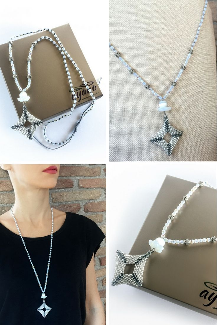 Casual, business or elegant? It fits them all... Whatever your style is, Ayano's new white beaded necklace is the perfect accessorise!