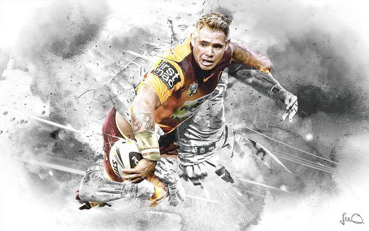 Brisbane Broncos NRL Artwork on Behance
