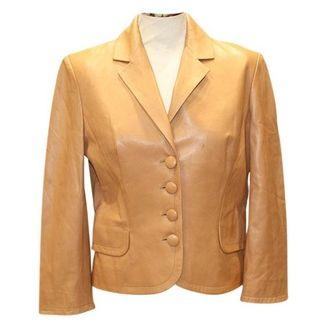 DIOR Camel Leather Jacket - Shop for women's Jacket