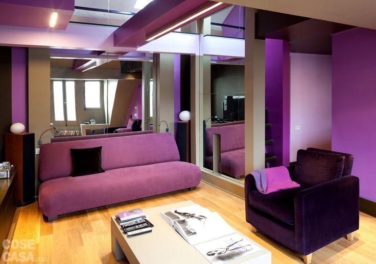 Più di 25 fantastiche idee su Pareti Viola su Pinterest  Colori della vernice viola e Pareti ...