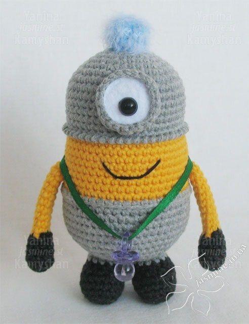 Cute little yellow monsters crocheted amigurumi PDF by jasminetoys