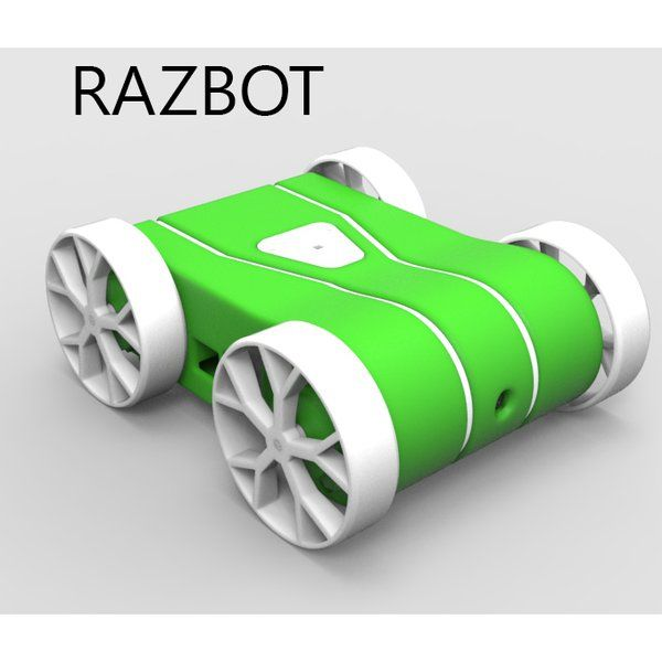RAZBOT is a 3D printable Rasberry Pi Rover running the Robot