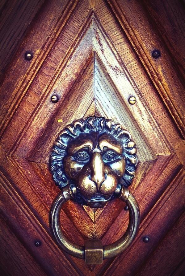 Old door knocker in Castle Vanajanlinna, Hämeenlinna.