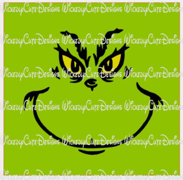 Grinch Inspired T Shirt Face SVG, DXF, EPS, PNG Digital File – Wickedly Cute Designs