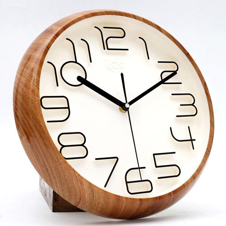 Stereoscopic word fashion brief wall clock quieten modern pocket watch quartz clock and watch