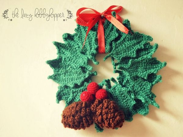 Fancy Knitted Wreath Pattern Image Collection Easy Scarf Knitting