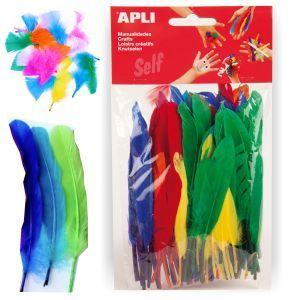 Plumas para Manualidades de colores, Pte. 100 http://www.selfpaper.com/html/plumas-para-manualidades-de-colores-g.html