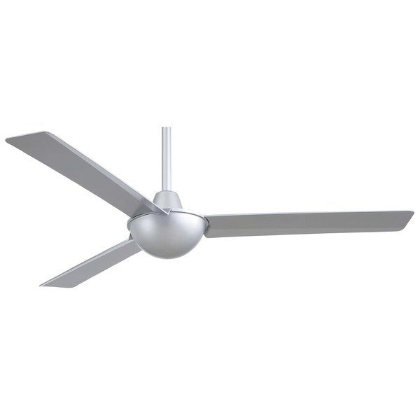 """Use the Minka Aire 52"""" Kewl 3 Blade Ceiling Fan with Wall Remote for cooling ventilation in a room. This ceiling fan is made using premium quality materials, which ensure that it is sturdy and durable.The 52"""" Kewl 3 Blade Ceiling Fan with Wall Remote by Minka Aire can be mounted on a sloped ceiling if required, and includes a reversible motor. This ceiling fan is safe to be mounted in dry places."""
