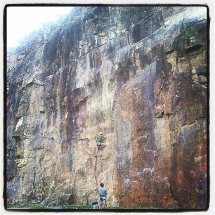 Real adventure: #rockclimbing at #KangarooPoint