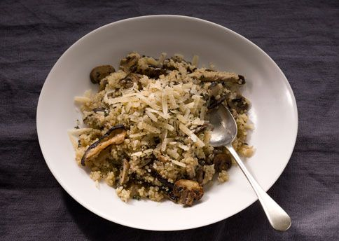 Quinoa Risotto with Mushrooms and Thyme: Quick Recipes Recipe: bonappetit.com