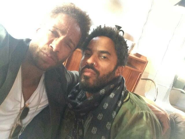 Gary Dourdan with Lenny Kravitz