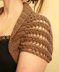 Knitting Pattern For Lace Bolero : 23 best images about Knitting patterns for women on Pinterest