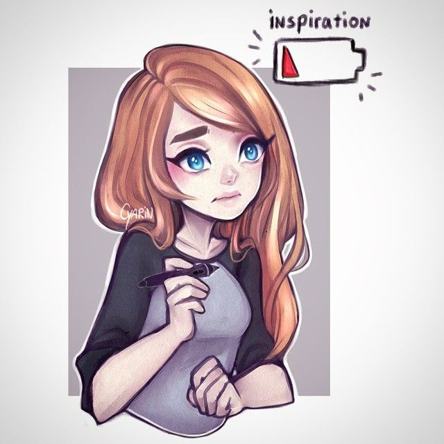 Inspiration batteries recharge at unpredictable speed, wish I could get mine repaired! Thanks for your support, you guys keep me motivated even through art blocks!