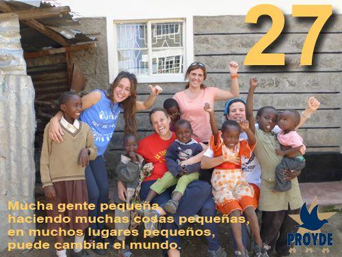 PROYDE, 27 años, y sigue el compromiso con el Desarrollo de Personas y Comunidades empobrecidas de nuestro Mundo