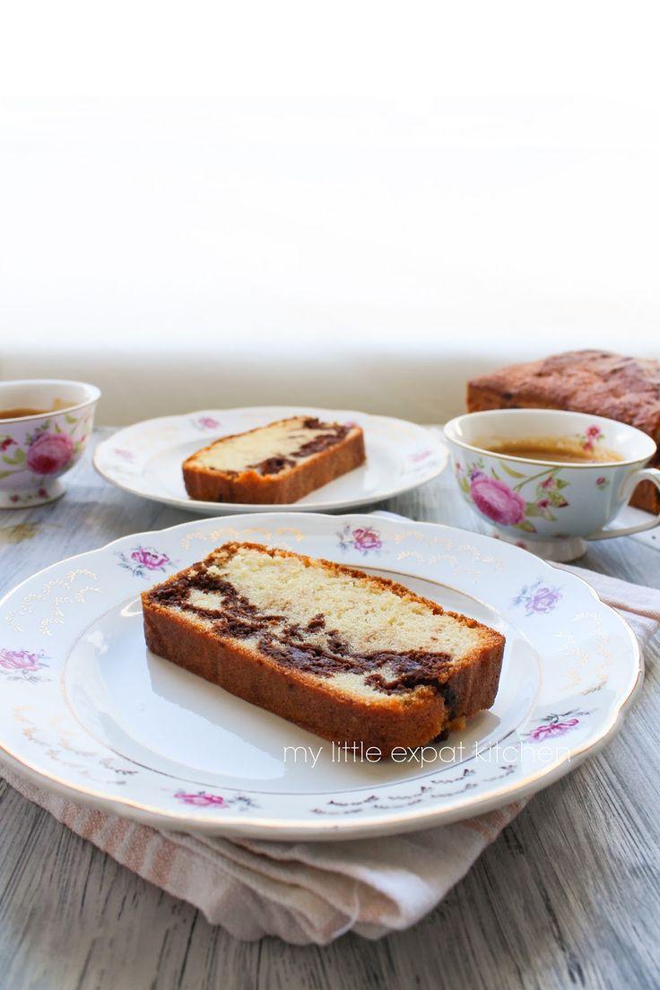 Κέικ βανίλιας με σπιτική nutella