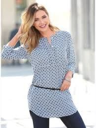 Resultado de imagen para camisas para mujer gorditas de verano con mangas tres cuartos