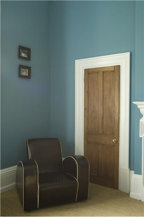 Living room walls - Stone Blue from F&B - definitely not the chair!