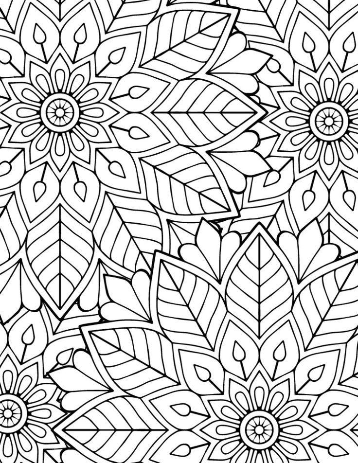 Bild Schwierig Farbung Mandala Kostenlos Zu Drucken Color