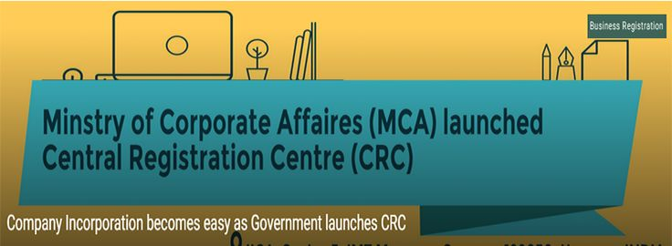 Find out what's special about Government's new project - CRC CRC is the Central Registration Centre (CRC), launched lately by the Ministry of Corporate Affairs, Government of India. CRC became officially active from 27, Jan 2016. The CRC has been designed specifically to act as a catalyst of the company incorporation process. http://businessregistration1.blogspot.in/2016/02/find-out-whats-special-about.html