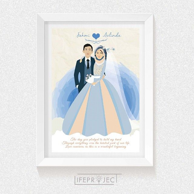 Custom Wedding Illustration. Order or ask please contact us: (WA/LINE) Admin 1: 085730102094   Admin 2: 089688800473 Email: lifeproject.id@gmail.com