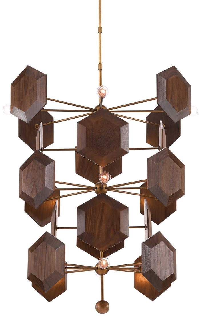 Currey And Company Honeycomb Chandelier Vintage Ceiling Lights