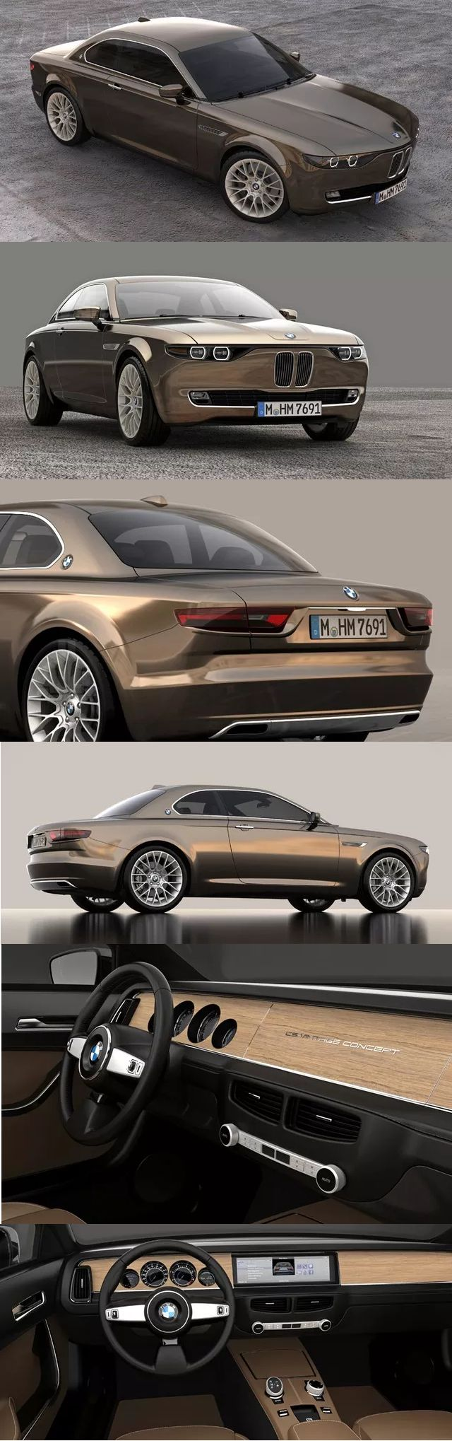 A vintage BMW concept car... I love the almost muscle-y feel to it!