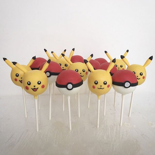 Pin for Later: These Pokémon Cake Pops Are About to Make Your Child's Dessert Dreams Come True Pikachu and Pokéballs
