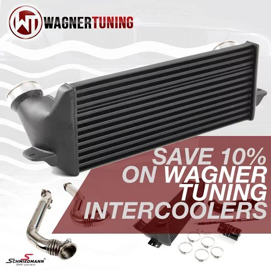 Get -10% on Wagner intercooler for the next 2 weeks. Check them out here http://goo.gl/60qcBL #schmiedmann #bmw