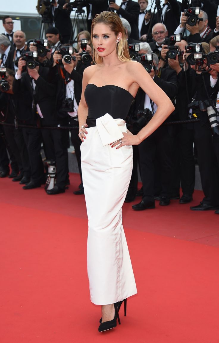 5.19.15  Doutzen Kroes in Dior F13 and Jimmy Choo heels at Cannes FF 'Sicario' premiere